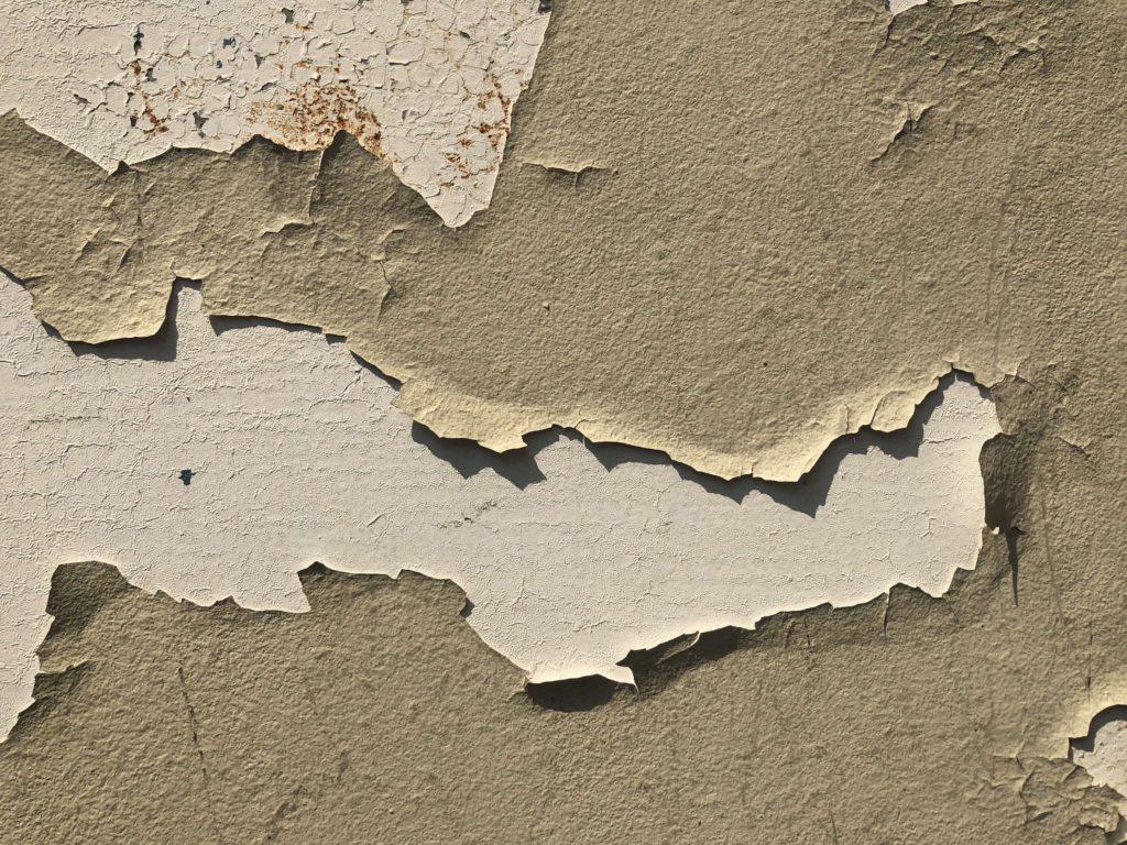 外壁塗装 塗料の剥がれ