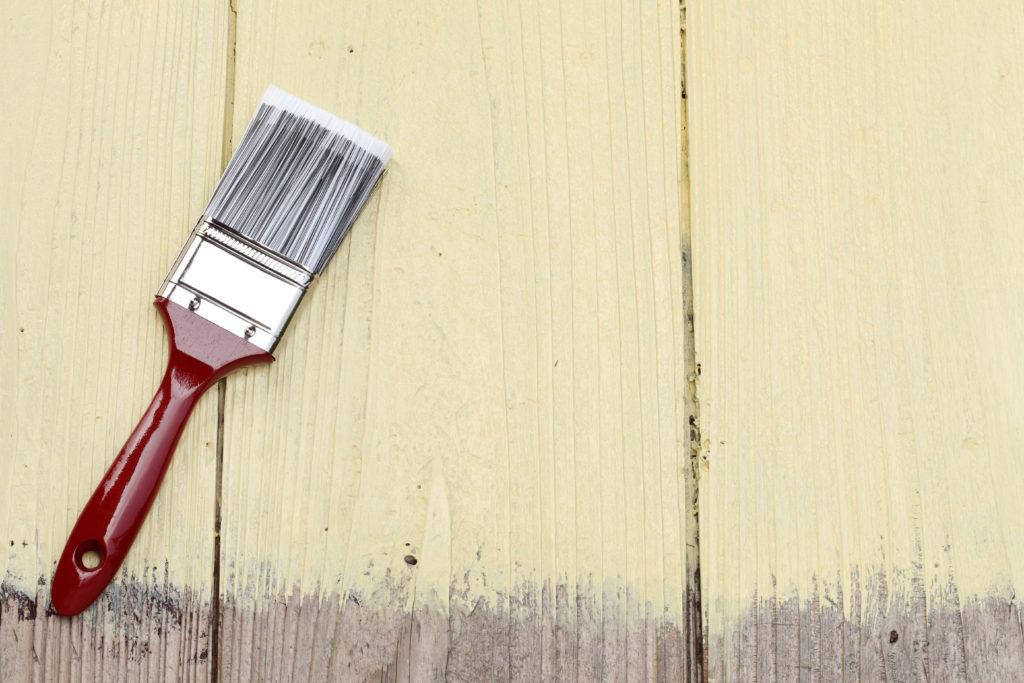 40坪の外壁塗装 刷毛