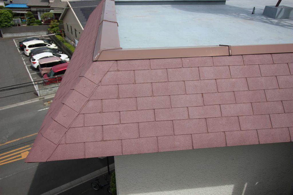 屋根塗装 茶色い屋根