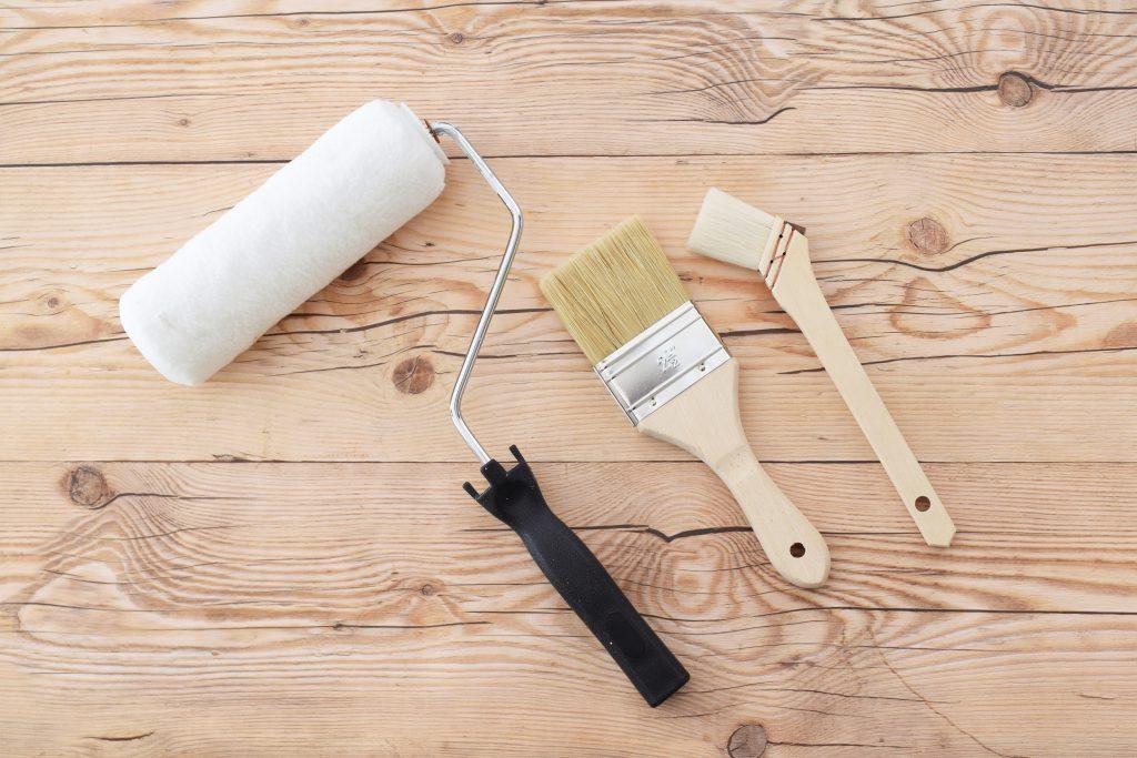 ケイカル板 塗装道具