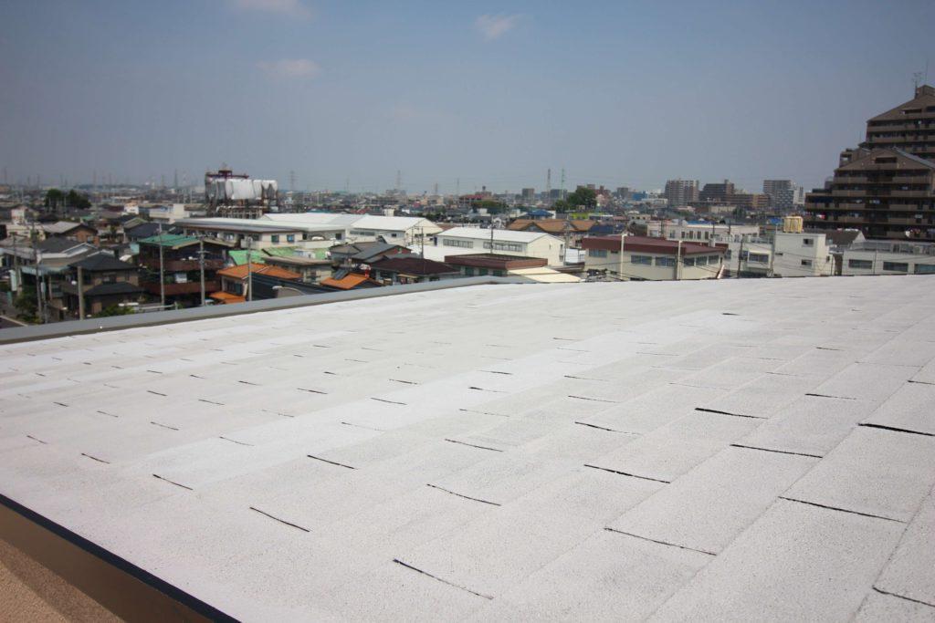 屋根塗装 ホワイト系屋根