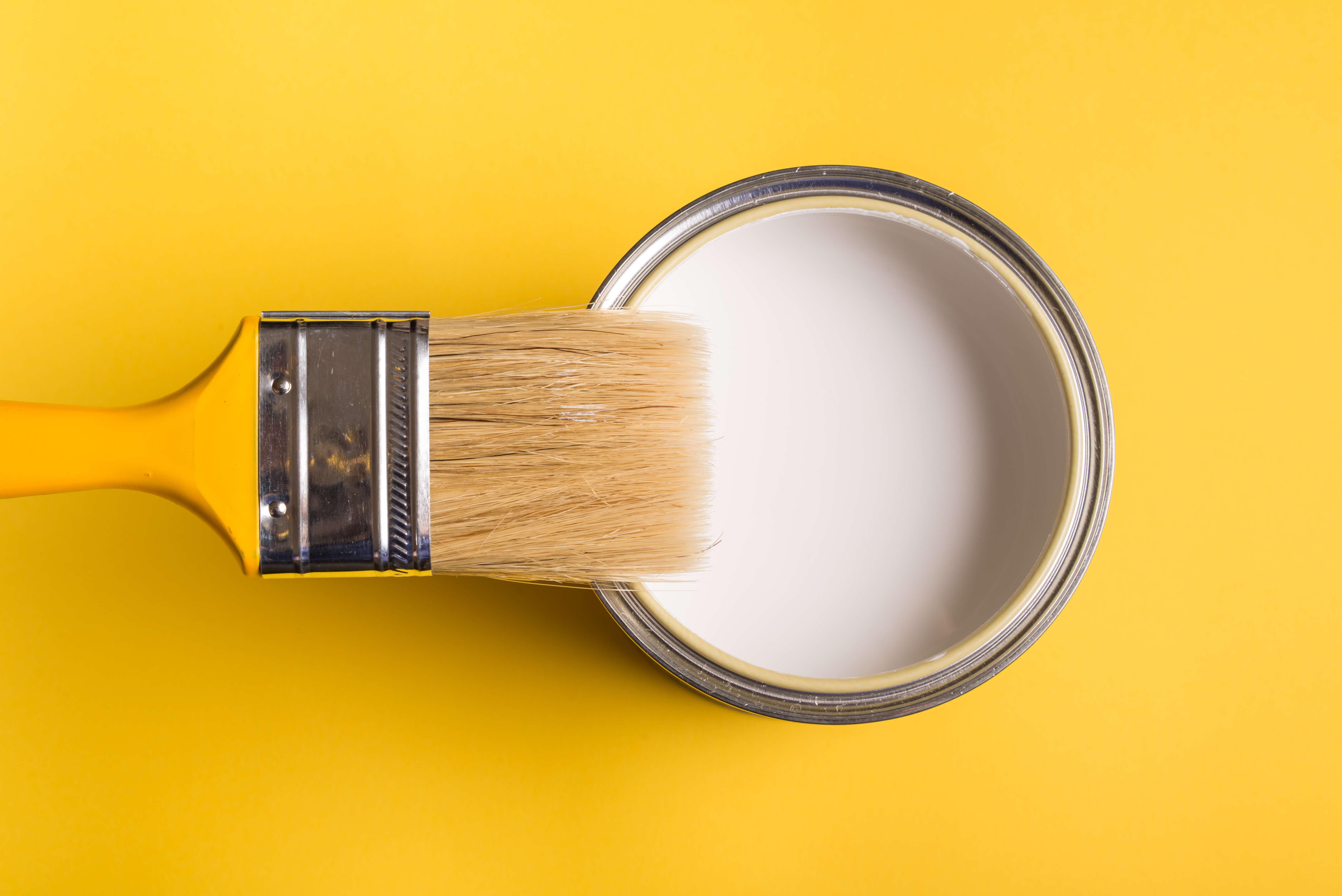 シリコン塗料 塗料と黄色い刷毛