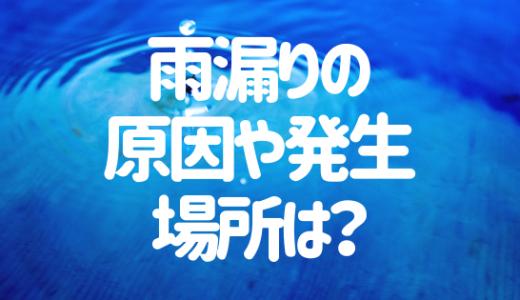 雨漏りはどうして起こるの?雨漏りの原因や発生しやすい場所を解説!