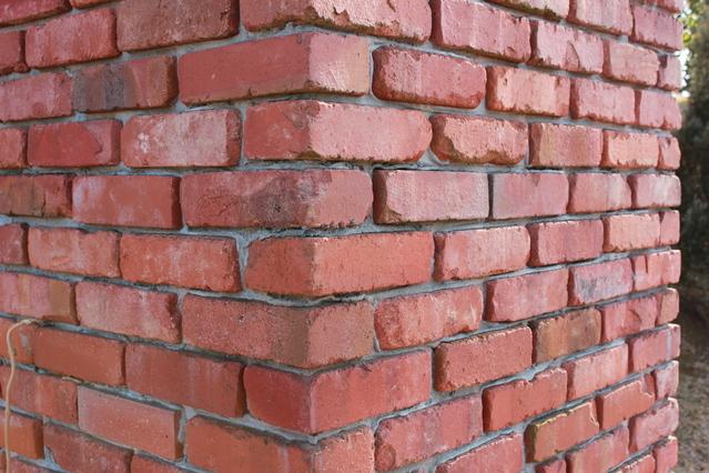 レンガ外壁 赤茶色のレンガの外壁