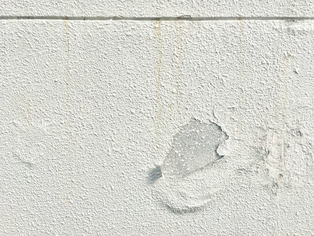 ベランダ補修 壁の剥がれ