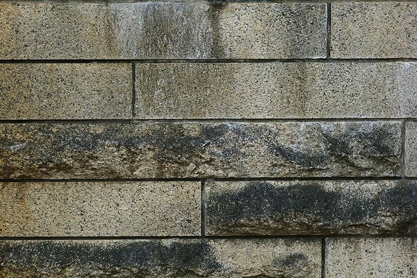 レンガ外壁 大きさがバラバラのレンガの外壁