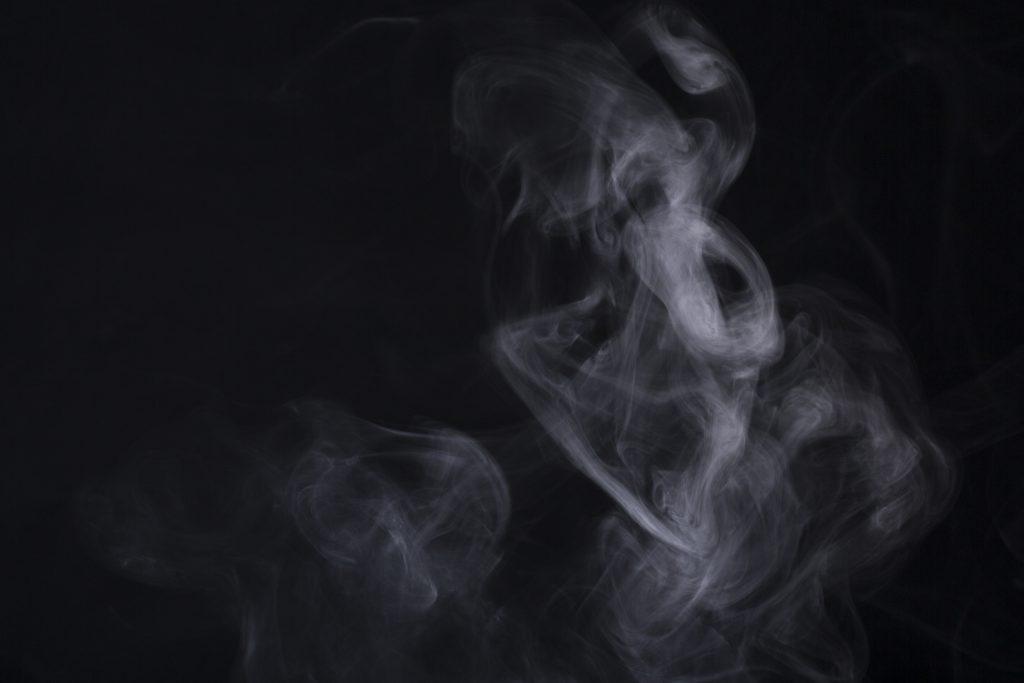 ガス調査の煙