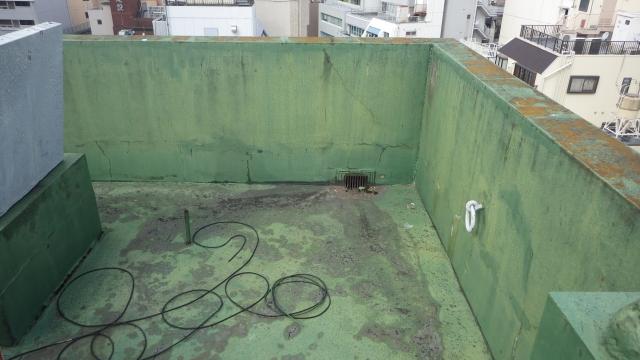 天井の雨漏り 屋上