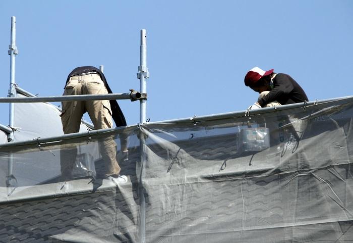 屋根 施工