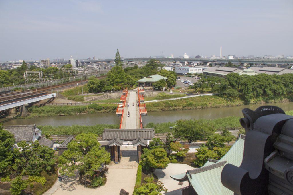 清州城からの眺め
