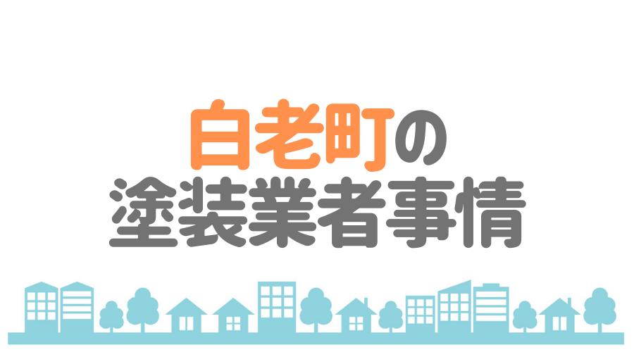 北海道白老町の塗装業者事情